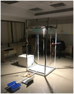 LiFi Experimental setup for LOS Test